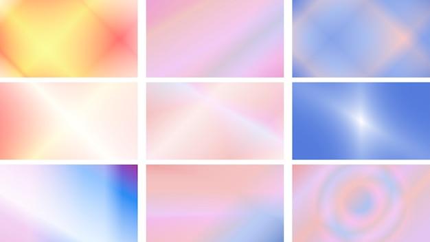 Satz moderne hintergründe in den hellen und weichen farben