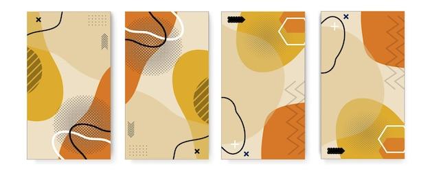 Satz modernes verkaufsbanner mit abstrakten formen. farbverlauf geometrisch