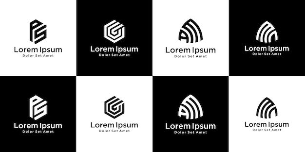 Satz monogramm-logo-design