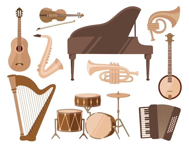 Satz musikinstrumente
