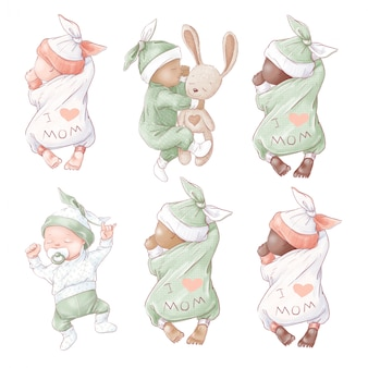 Satz neugeborenen-babypartygeburtstag.