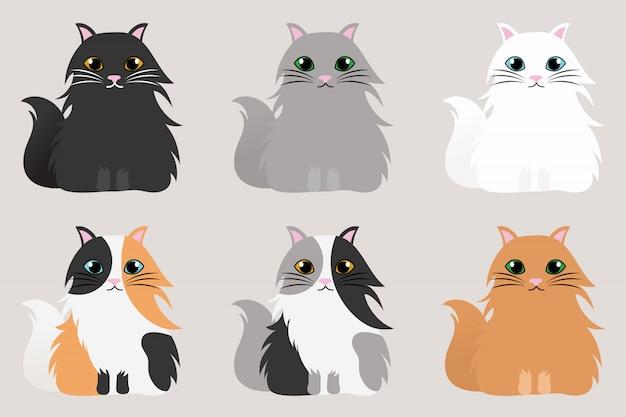 Satz niedliche katzen