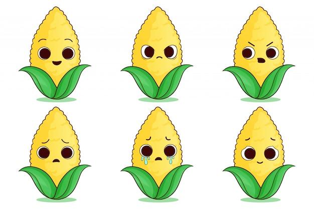 Satz niedlichen mais