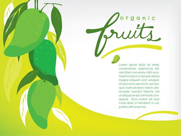 Satz organische mangofruchttapete