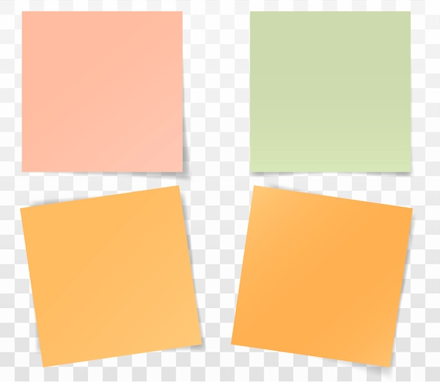 Satz papieraufkleber für anmerkungen