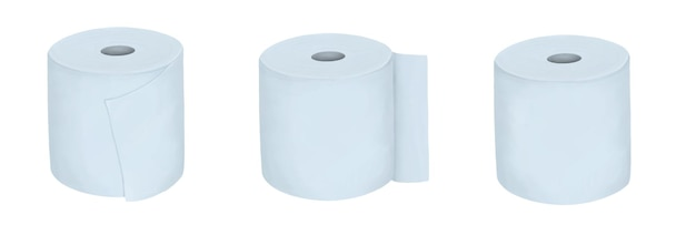 Satz papierhandtücher lokalisiert auf weiß