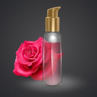 Satz parfümflaschen isoliert