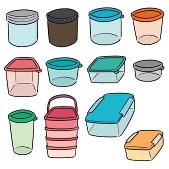 Satz plastikbehälter