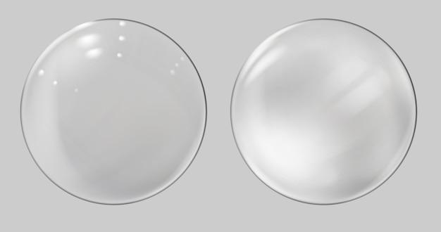 Satz realistische glaskugel