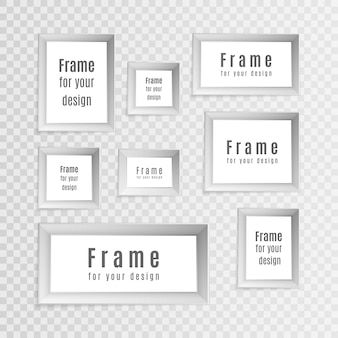 Satz realistische weinleserahmen der weinlese lokalisiert auf transparentem hintergrund. perfekt für ihre präsentationen. fotorahmen layout design.