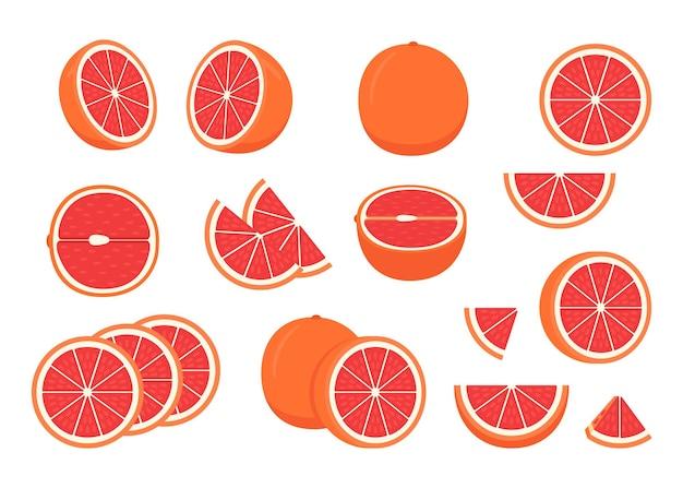 Satz reife grapefruit