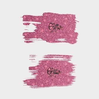 Satz rosa glitzerbürsten lokalisiert auf weiß