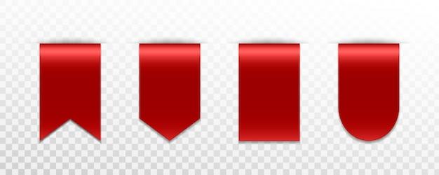 Satz rotes premium-abzeichen