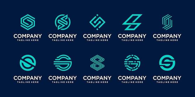 Satz sammlung anfangsbuchstabe s logo-vorlage.
