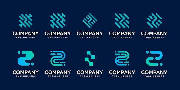 Satz sammlung anfangsbuchstabe z logo vorlage.