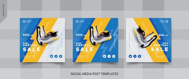 Satz schuhe social media post templates design