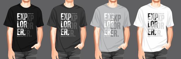 Satz schwarze farbe t-shirt bild