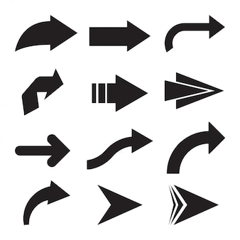 Satz schwarze vektorpfeile. pfeil-symbol. pfeil-vektor-symbol. pfeil. pfeile-vektor-auflistung