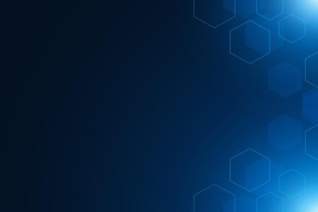 Satz sechseckzellen. struktur der chemie. abstrakter hintergrund . digitaler futuristischer minimalismus