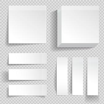 Satz selbstklebende memo-aufkleber mit verschiedenen arten von schatten