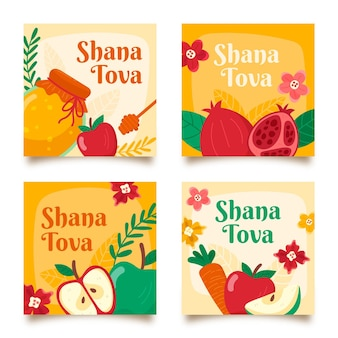 Satz shana tova grußkarten