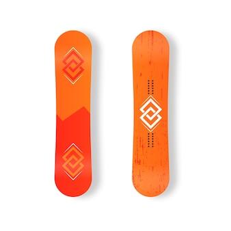 Satz snowboards für skiortbild bergaktivitäten snowboarding board flacher symbolvektor