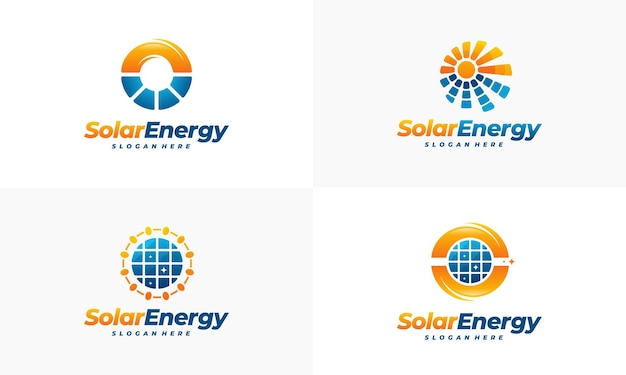 Satz solar energy logo designs, sun power logo