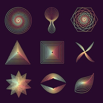 Satz spiralen, lokalisierte vektorgrafik