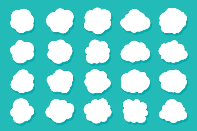 Satz sprechblasen wolken. karikatur