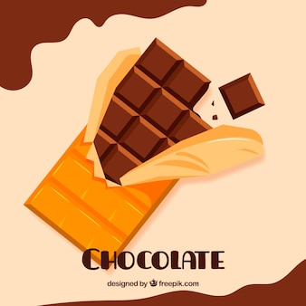 Satz stäbe und stücke der köstlichen schokolade