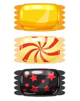 Satz süßigkeiten färben süßigkeiten