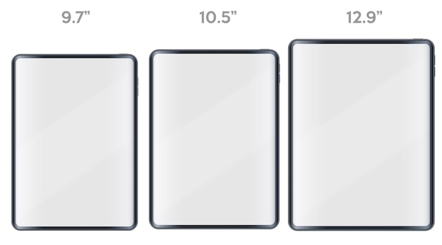 Satz tablet pc-layout-präsentation