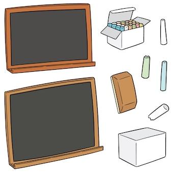 Satz tafel und kreide
