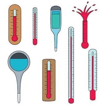Satz Thermometer