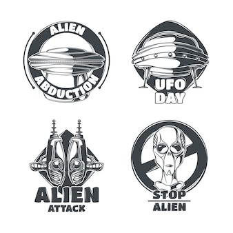 Satz ufo-embleme