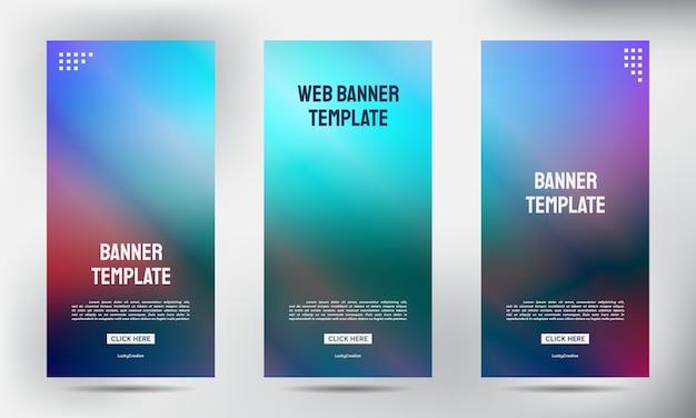 Satz unscharfer roll-up-geschäftsbroschüre flyer banner design vertikal vorlage vektor, cover präsentation hintergrund, moderne veröffentlichung x-banner und flag-banner, roll-up banner stand vorlage vorlage design
