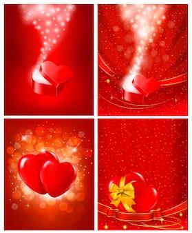Satz valentinstaghintergründe