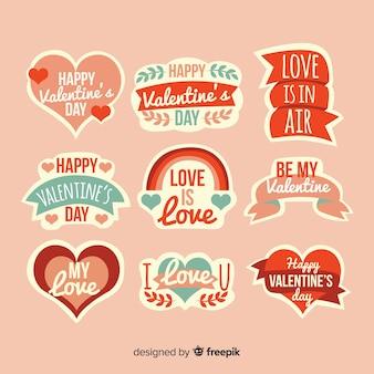 Satz valentinstagillustrationen