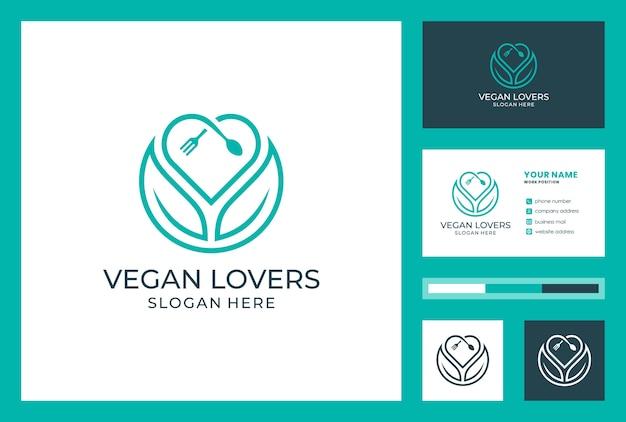 Satz vegane lebensmittel verlässt visitenkarte