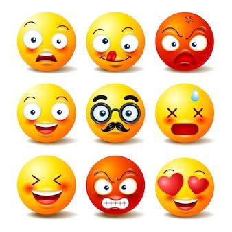 Satz vektor emoticons