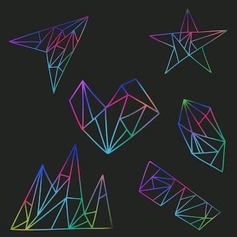 Satz vektorillustrationen mit grafischen elementen
