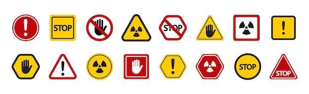 Satz verbotszeichen warnung achtung