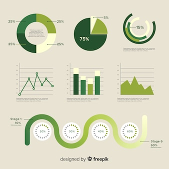 Satz verschiedene infographic elemente