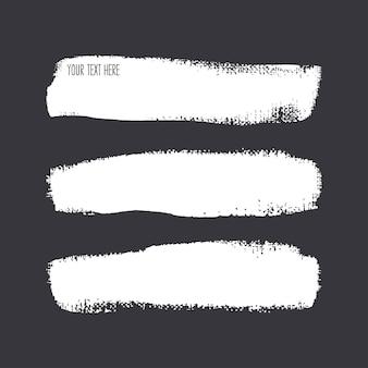 Satz verschiedener pinselstriche. handgezeichnete illustration