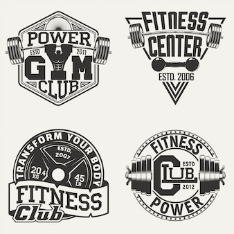 Satz vintage-embleme