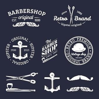 Satz vintage hipster logos.