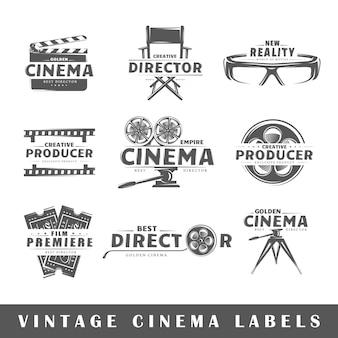 Satz vintage-kinolabels