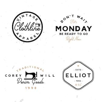 Satz vintage-logo-vorlagen im minimalen stil