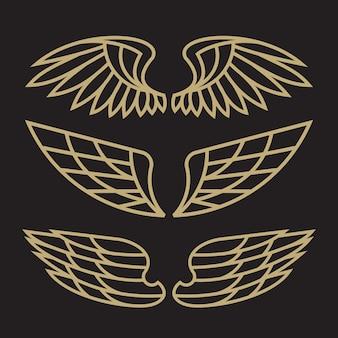 Satz vogel eagle and wing-logoschablone