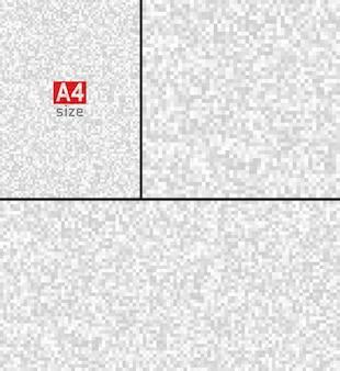 Satz von abstrakten grauen technologie-pixel-hintergründen pixel-hintergrundillustration pixelated vector